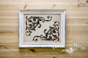 091. Acanthus Corner Scroll Vintage Water Decal