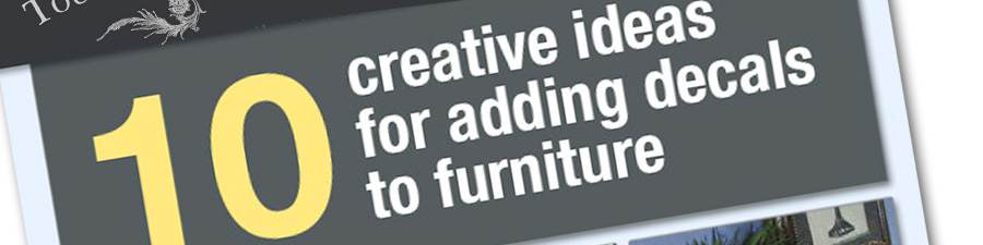 Adding decals to furniture tutorials