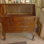 Vintage Antique Shabby Chic Writting Bureau - before renovation