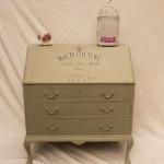Vintage Antique Shabby Chic Writting Bureau - before renovation