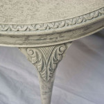 Vintage Shabby Chic round coffee table