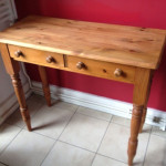 Vintage Shabby Chic Console Table - before renovation