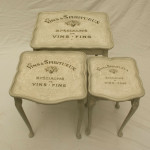 Vintage Shabby Chic French Style Nest of Tables
