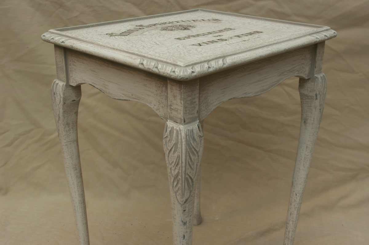 Vintage shabby chic single nest table touch the wood