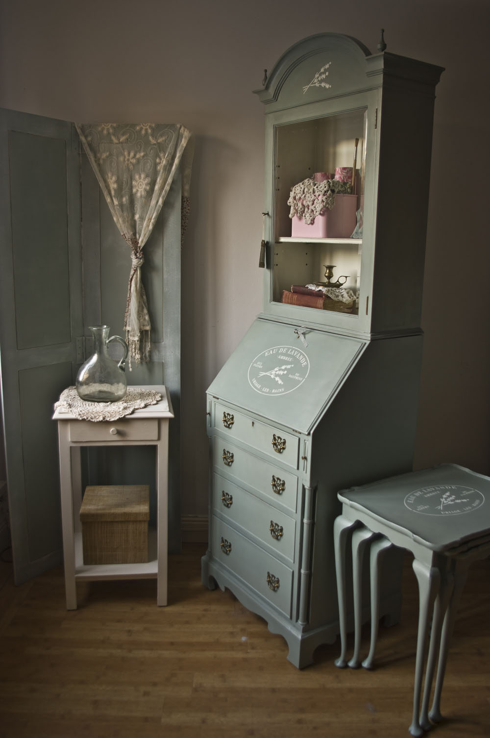vintage shabby chic bureau no 07 touch the wood. Black Bedroom Furniture Sets. Home Design Ideas