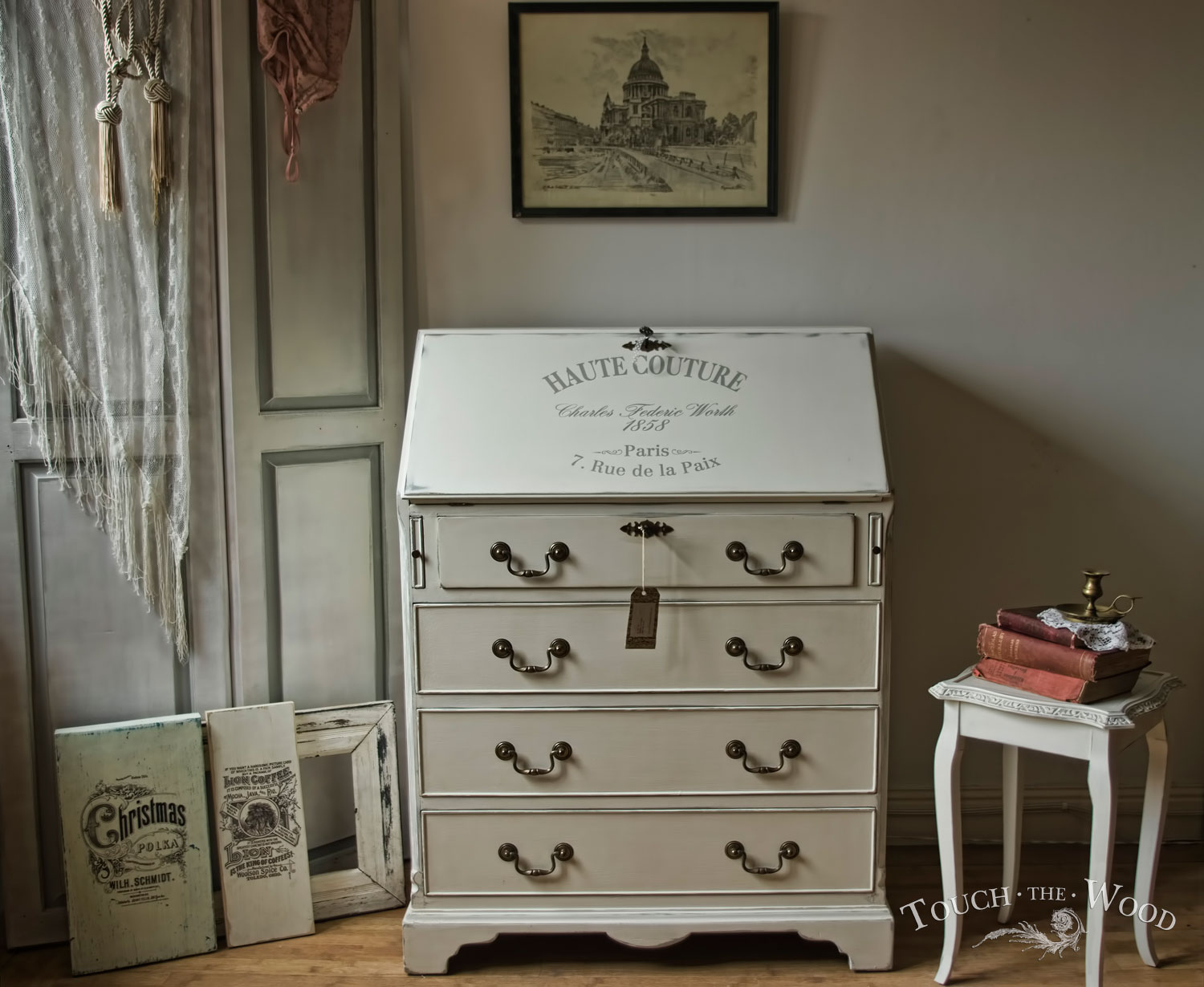 shabby chic bureau no 8 touch the wood. Black Bedroom Furniture Sets. Home Design Ideas