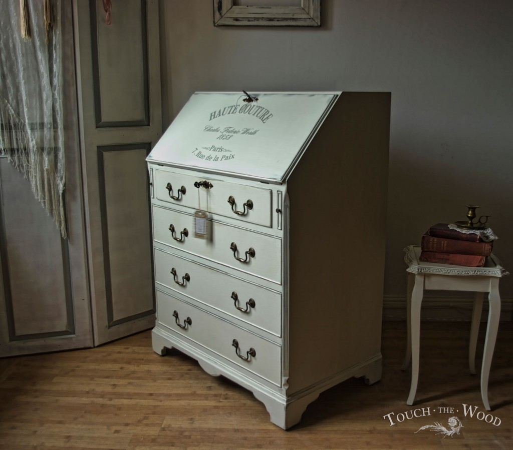 shabby chic bureau 08 03 touch the wood. Black Bedroom Furniture Sets. Home Design Ideas