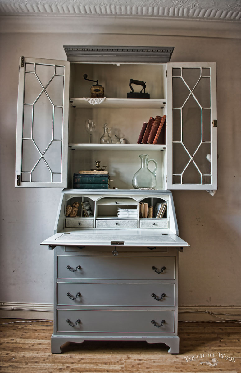 vintage shabby chic bureau no 09 touch the wood. Black Bedroom Furniture Sets. Home Design Ideas
