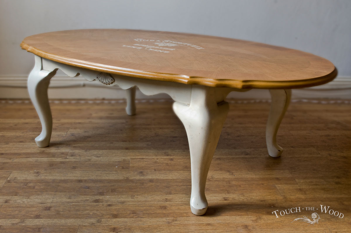20140206 Vintage Shabby Chic Oval Coffee Table01 04 Touch The Wood