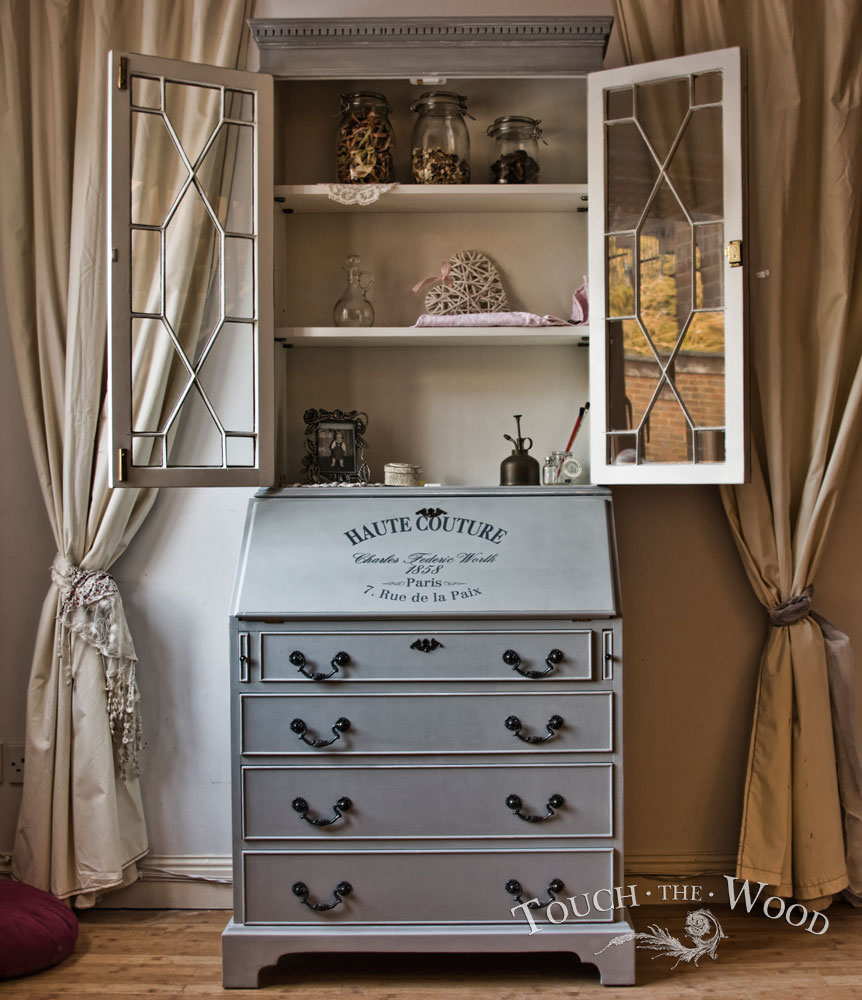 vintage shabby chic bureau no 14 touch the wood. Black Bedroom Furniture Sets. Home Design Ideas