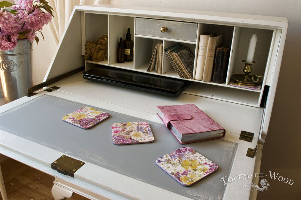 shabby chic writing desk bureau no 15 touch the wood. Black Bedroom Furniture Sets. Home Design Ideas