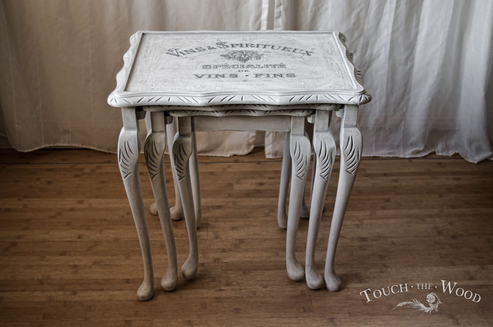 Shabby Chic Nest Of Tables No 16 Touch The Wood
