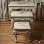 Shabby Chic Furniture with Print Transfer - custom makeover