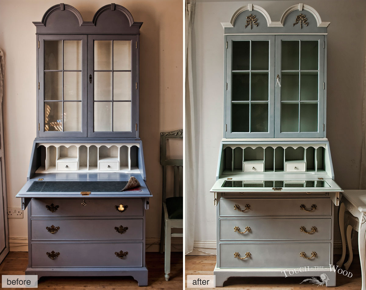 From ugly to cute shabby chic furniture makeover touch for Meuble breton ancien