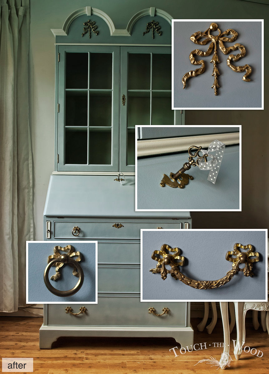 Shabby Chic Furniture Makeover, Bureau with Mirror