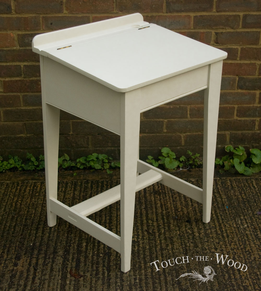 Vintage Shabby Chic School Desk Makeover
