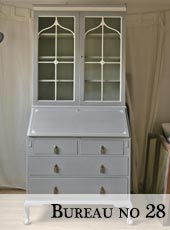 Late Edwardian Shabby Chic Bureau with Bookcase no 28