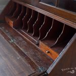 Late Edwardian Shabby Chic Bureau with Bookcase no 28 - before renovation