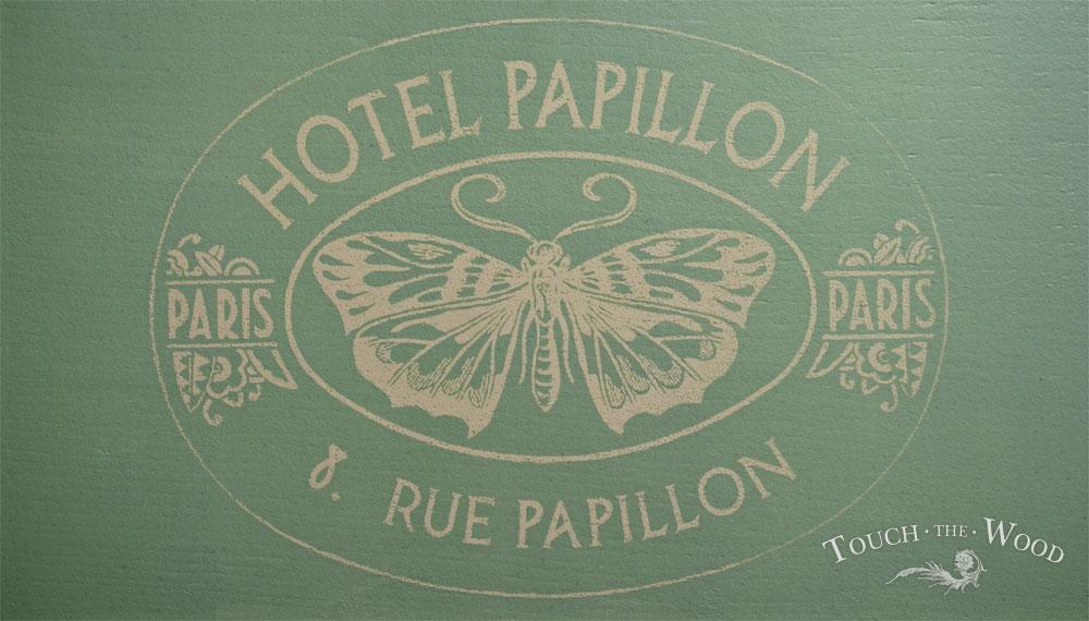 shabby chic print transfer - hotel papillon