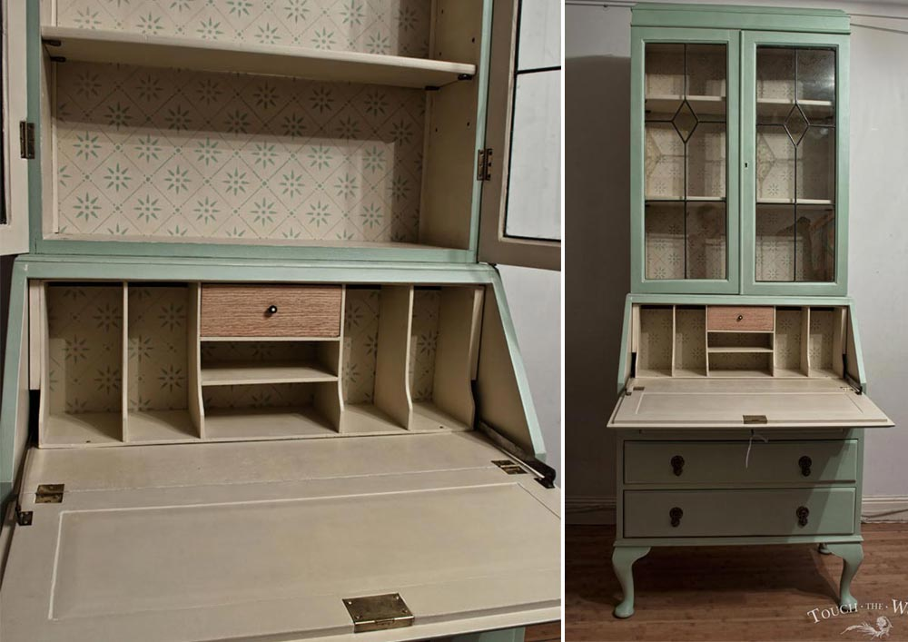 shabby chic edwardian bureau - custom makeover