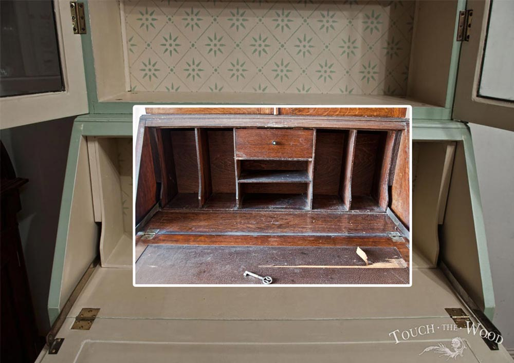 shabby chic custom makeover edwardian bureau