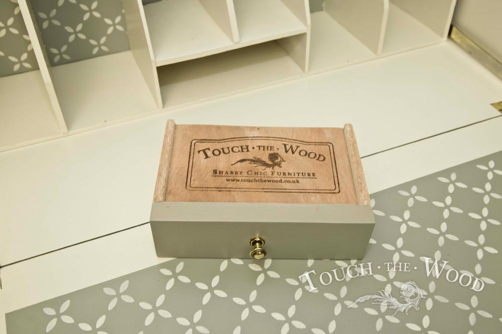 Shabby Chic Bureau With Stencil No 32 Touch The Wood