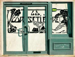 Art Deco Stencil La Corsetiere Corset Maker Advert T01