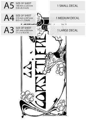 """Art Nouveau """"La Corsetier"""" French Corset Maker Vintage Adver"""