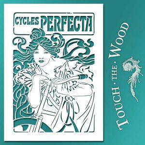 Art Nouveau Stencil - Bicycle Perfecta Poster