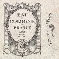 Eau de Cologne Vintage French Perfume Label