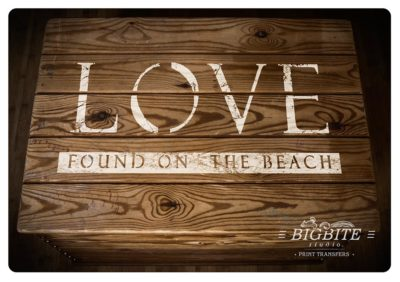 Elegant Stenciled Letters - Font Paddington Roman - Love found on the Beach
