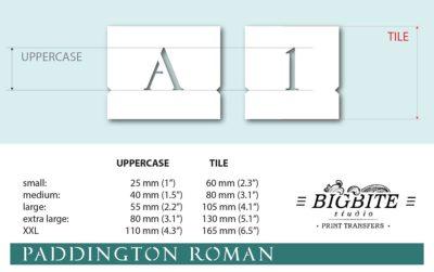 Elegant Stenciled Letters - Font Paddington Roman - preview