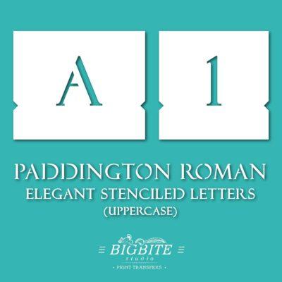 Elegant Stenciled Letters - Font Paddington Roman - preview 01