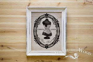 French Corset Emily in a Frame: Water Slide Decal