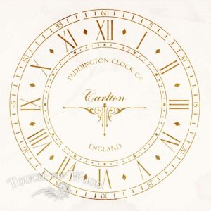Old Paddington Clock Face Vintage Stencil