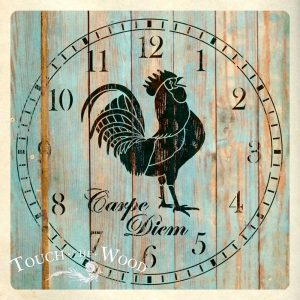 Rooster Clock Face Stencil