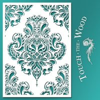 Shabby Chic Stencil: Doodle Damask Wallpaper Pattern t