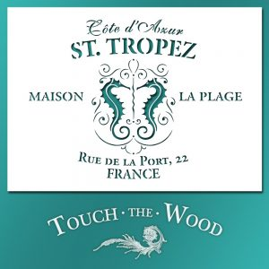 Shabby Chic Stencil: St. Tropez Vintage French Advert for Shabby Chic Projects