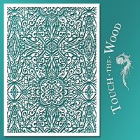 Shabby Chic Stencil: Wallpaper Trellis Pattern