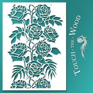 Shabby Chic Stencil Wild Roses Ornament