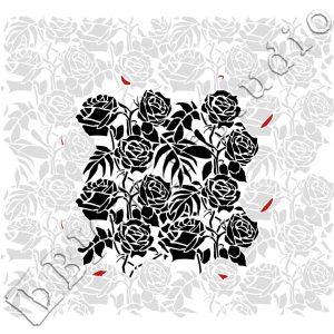 Shabby Chic Stencil Wild Roses Pattern