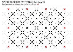 Simple Cross Pattern - Stars and Diamonds Stencil