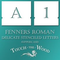 Stenciled Letters – Delicate Font Fenners Roman Uppercase