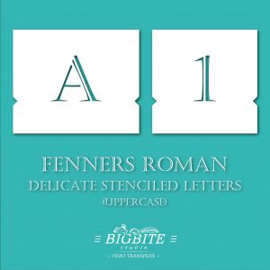 Stenciled Letters - Delicate Font Fenners Roman preview