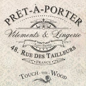 Vintage French Advert: Pret-a-Porter