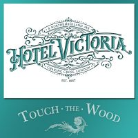 Vintage Hotel Victoria Stenciled Advert