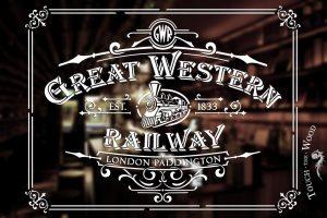 Vintage Stencil - Great Western Railway Advert