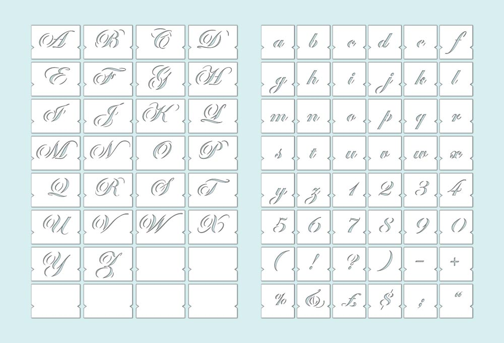 100+ Decorative Alphabet Stencils – yasminroohi