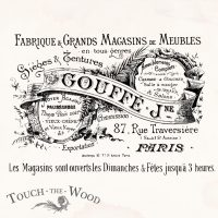 Water Decal Print Transfer - Vintage French Gouffe Fabrique Advert
