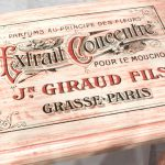 Water Decal Print Transfer Example - Jn Giraud Perfumes